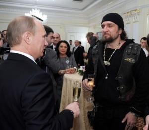 Vladimir Putin and president of the Night Wolves biker club Alexander Zaldostanov Author: premier.gov.ru